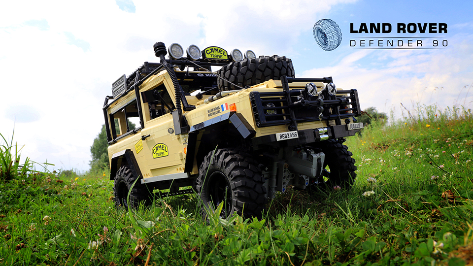 lego rc land rover defender 90 the awesomer. Black Bedroom Furniture Sets. Home Design Ideas