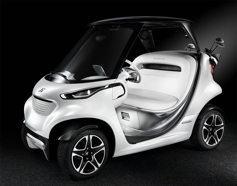 mercedes benz garia golf cart the awesomer