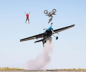 A Plane, a Bike, and a Tightrope