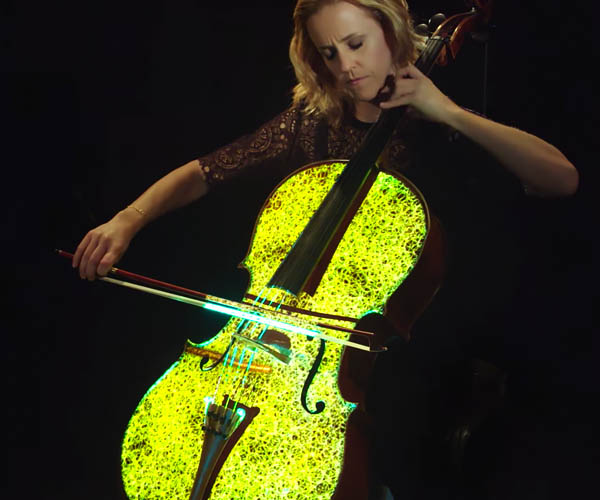 Projection Mapped Cello