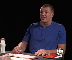 Gronk vs. Hot Wings