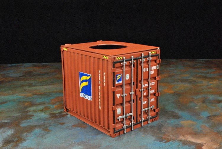 Cargo Container Tissue Box