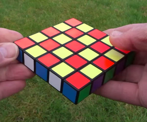 """Impossible"" 1-Layer Rubik's Cube"