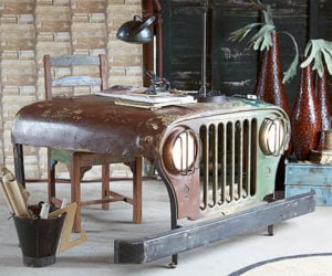 Reclaimed Jeep Office Desk
