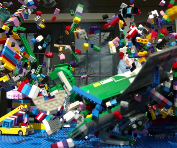 LEGO Plane Crash Slo-Mo