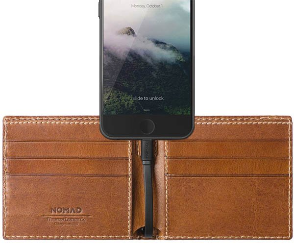 Nomad Leather Charging Wallets