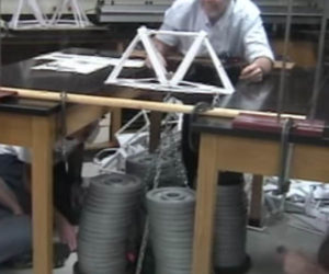 Paper Bridge Holds 1,071 Pounds
