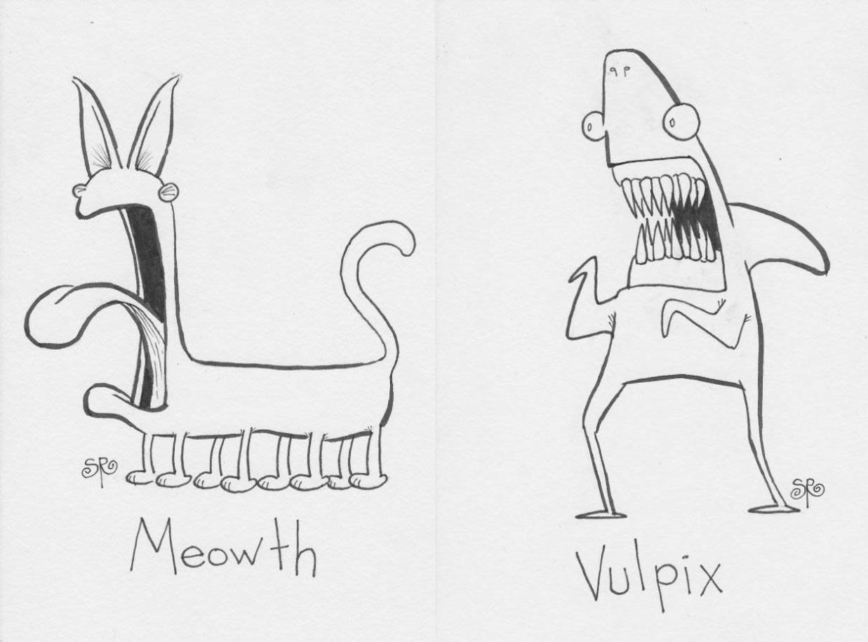 Drawing Pokémon without a Clue