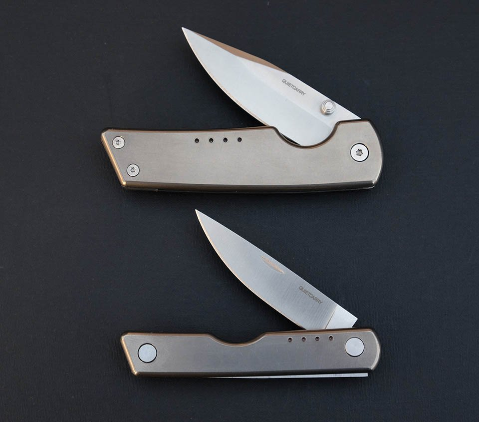 QuietCarry Titanium Pocket Knives