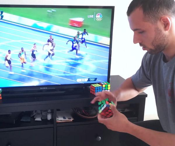 Rubik's Cube vs. Usain Bolt