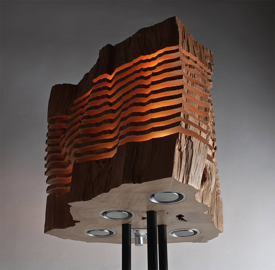 Sliced Firewood Lamps