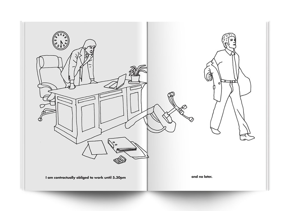 Working Day Coloring Book