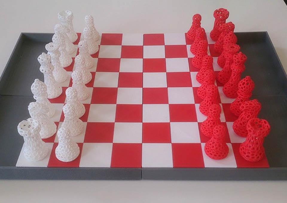 Voronoi Chess Pieces