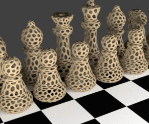 Voronoi Chess Pieces