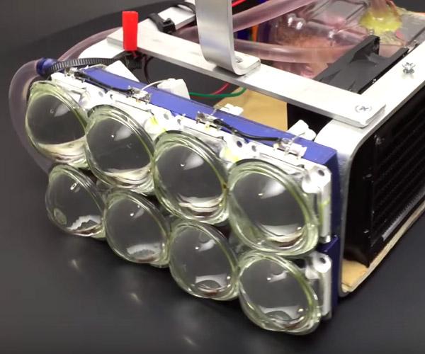 DIY 72,000 Lumen Flashlight