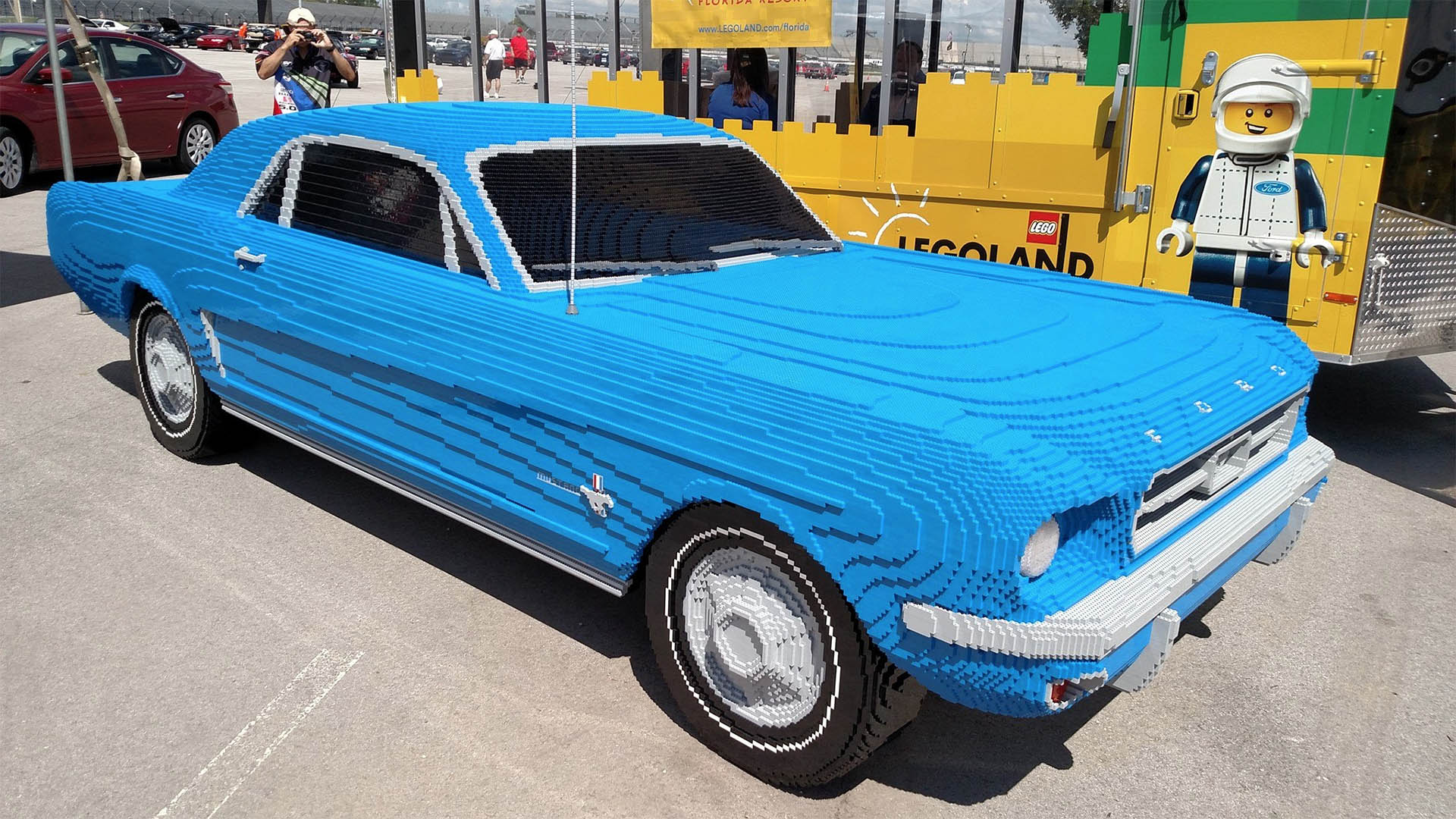 full-size lego mustang - the awesomer