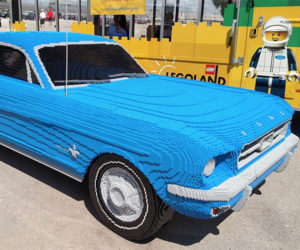 Full-size LEGO Mustang