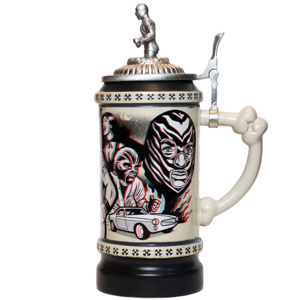 Lucha Libre Beer Stein