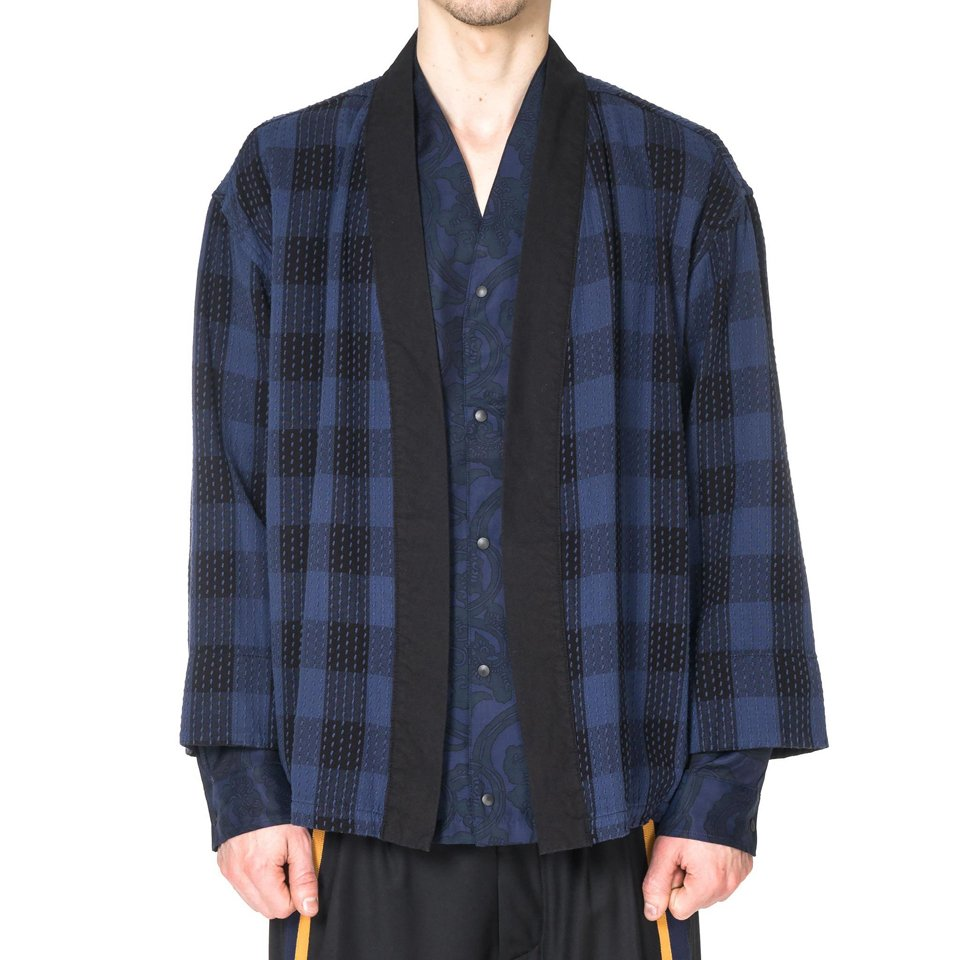 Sashiko Block Check Haori