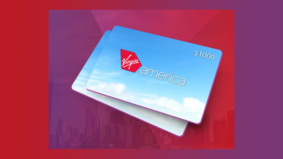 The $1000 Virgin America Giveaway