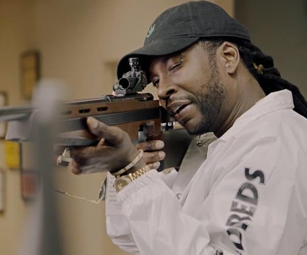 2 Chainz Checks out Expensive Guns