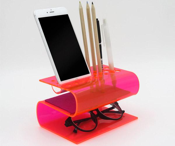 Bent Acrylic Desk Organizers