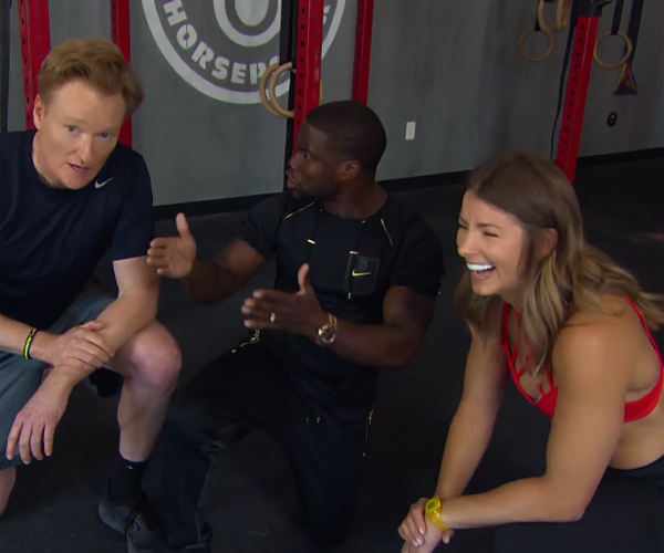 Conan & Kevin Hart Gym Outtakes