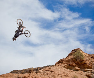 Downhill Double Backflip
