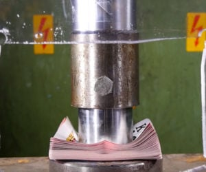 Hydraulic Press vs. Playing Cards