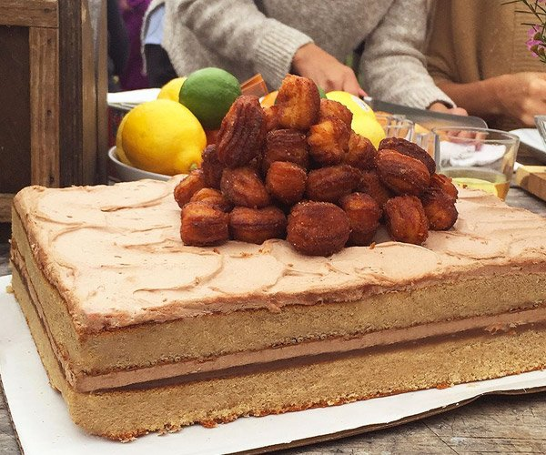 Large Marge Churro Cake