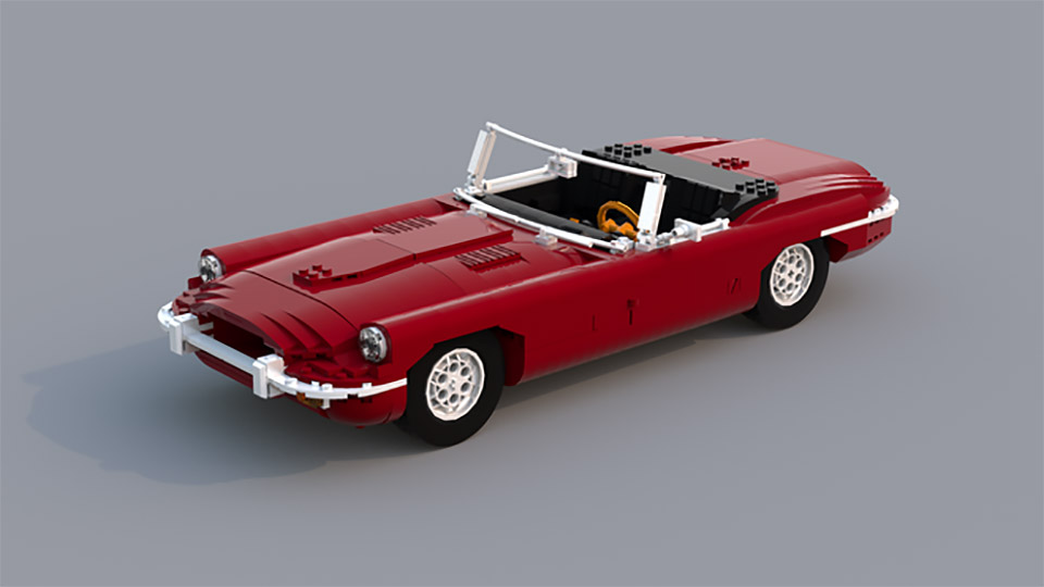 LEGO Jaguar E-Type Roadster