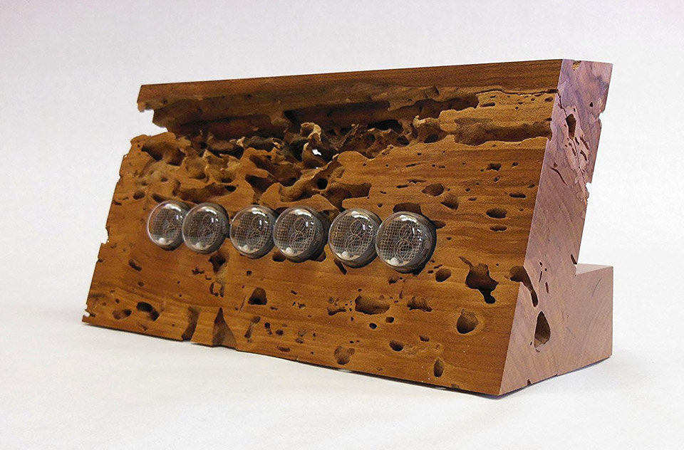 Cherry Wood Nixie Clock