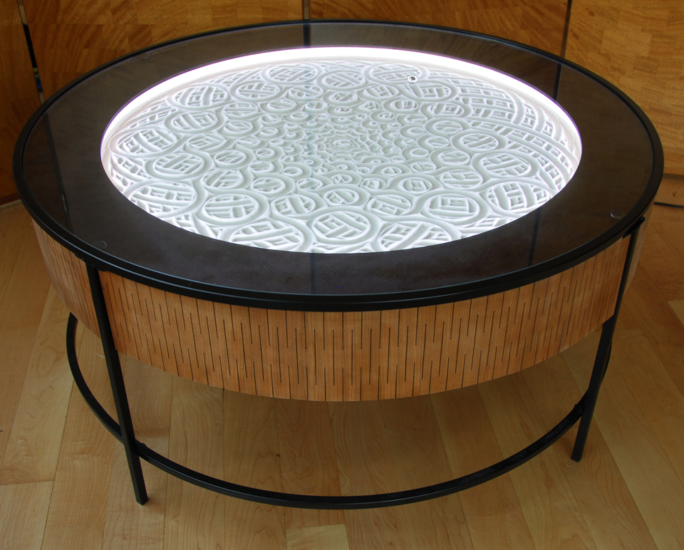 Sisyphus kinetic art table the awesomer - Fabriquer table basse originale ...