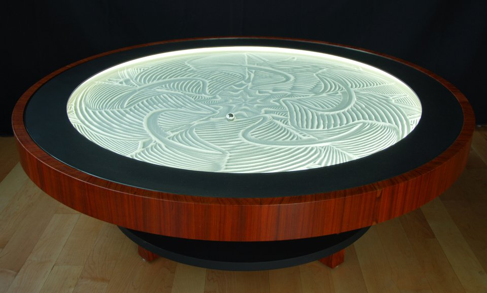 Sisyphus kinetic art table the awesomer for Table kineti
