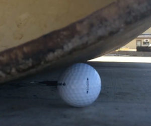 Steamroller vs. Golf Balls