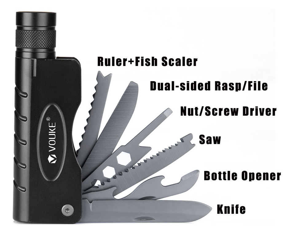 Vouke Tactical Flashlight Multitool