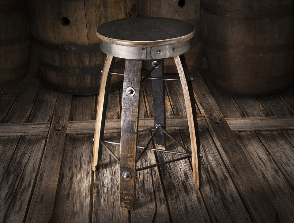 Whiskey Wood Bar Stools
