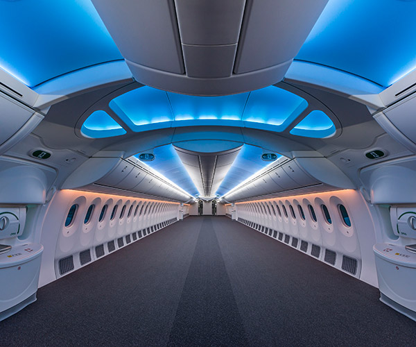An Empty Boeing 787