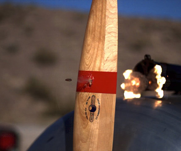 Bullets vs. Propeller in Slow Motion