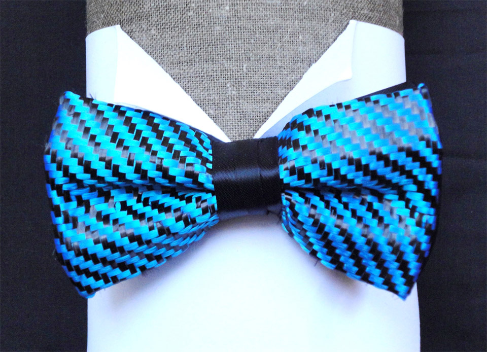 Carbon Fiber Weave Bow Ties