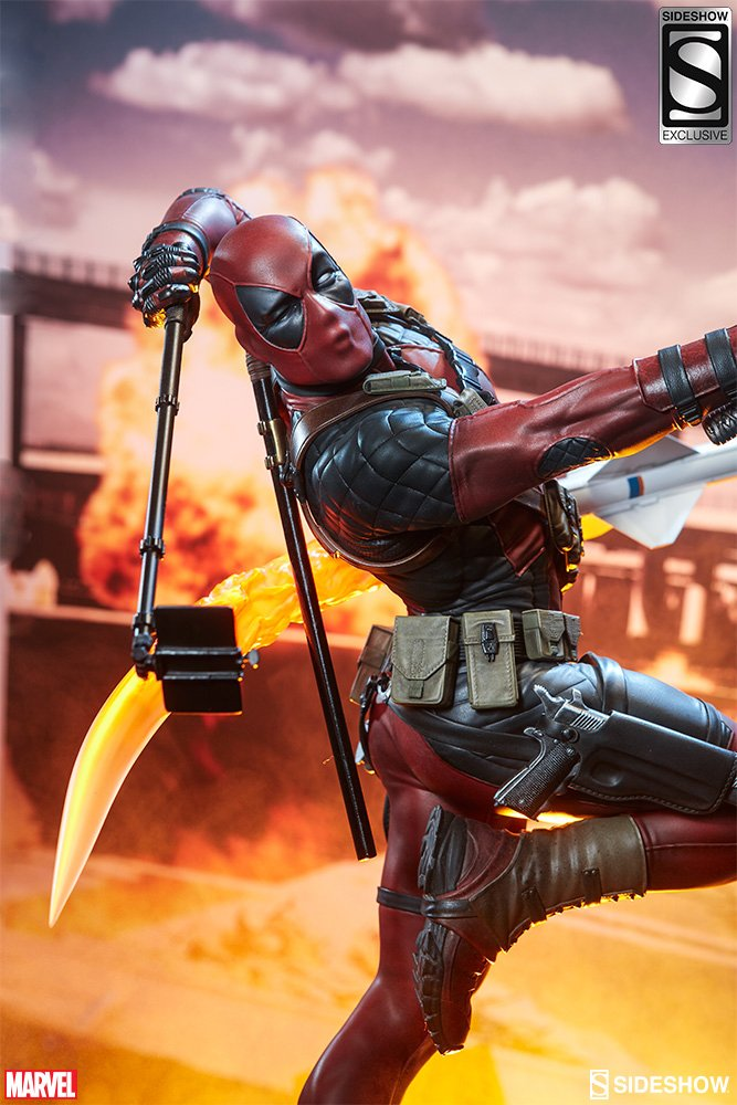 Deadpool Heat-Seeker Statue