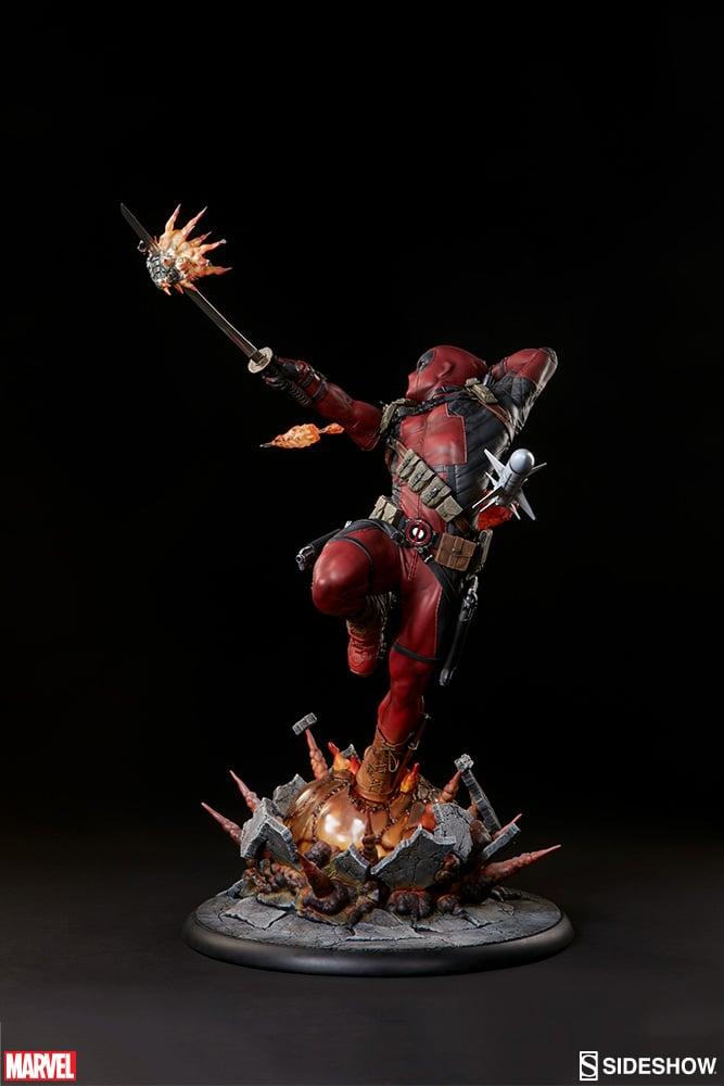 Deadpool Heat Seeker Statue The Awesomer