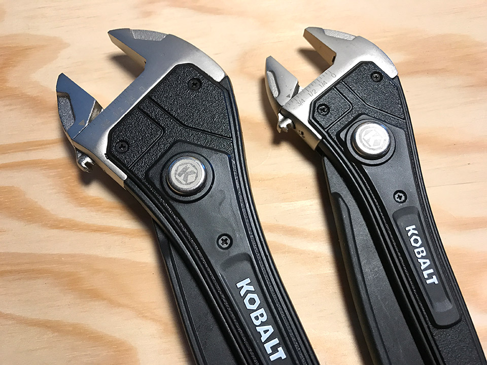 Kobalt Rapid-Adjust Wrenches