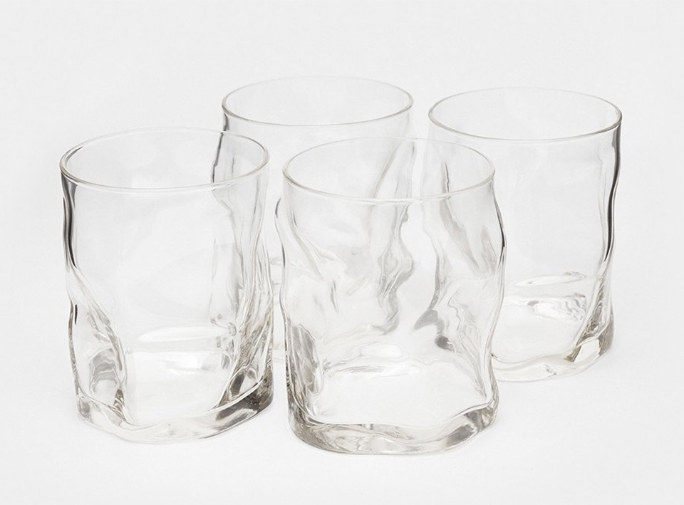 Melted Whiskey Glasses