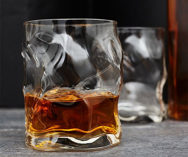 Melted Whiskey Glasses