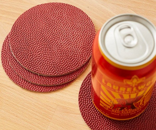 NFL Football Leather Coasters