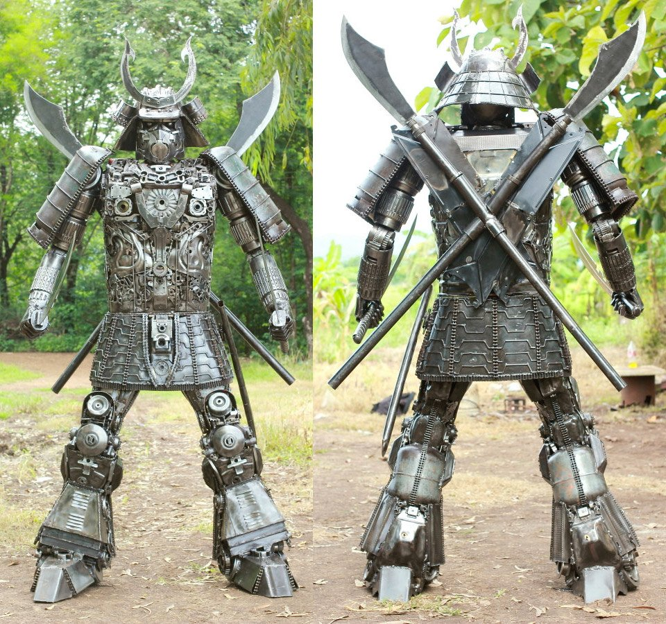 Larger-than-life Samurai Sculpture