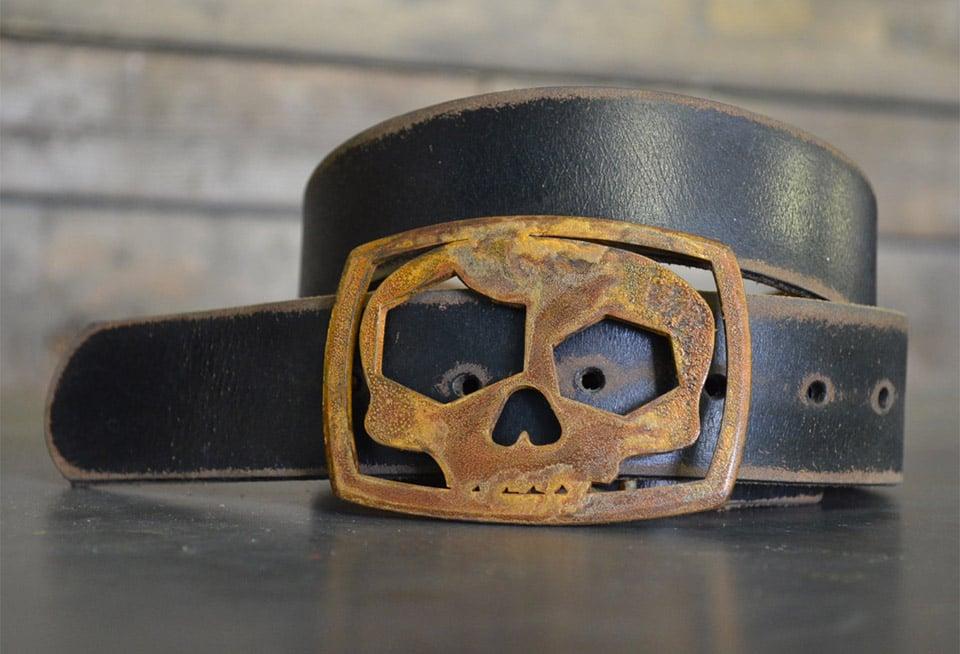 Skull Bottle Opener Belt Buckle