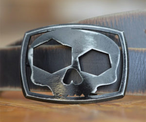 Skull Bottle Opener Belt Buckle