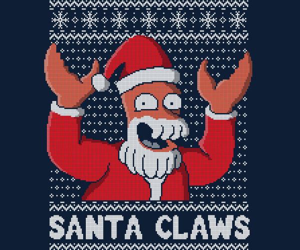 Zoidberg Santa Claws Tee